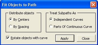 Fit Object To Path for CorelDRAW X5 (free version) download for PC